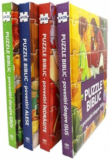 Puzzle biblic. Set 4 carti puzzle