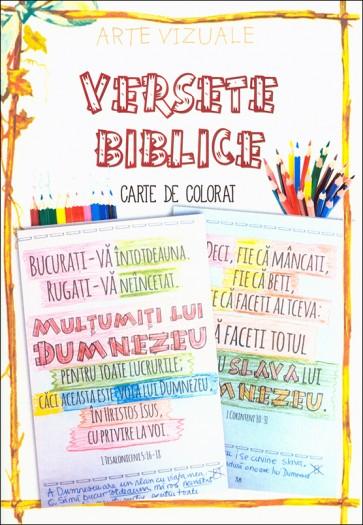 Versete biblice. Carte de colorat