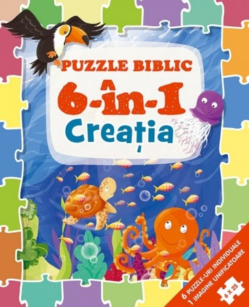 Puzzle biblic 6 în 1 – Creația