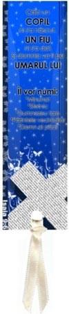 Semn carte_Caci un copil ni s-a nascut [2][albastru]