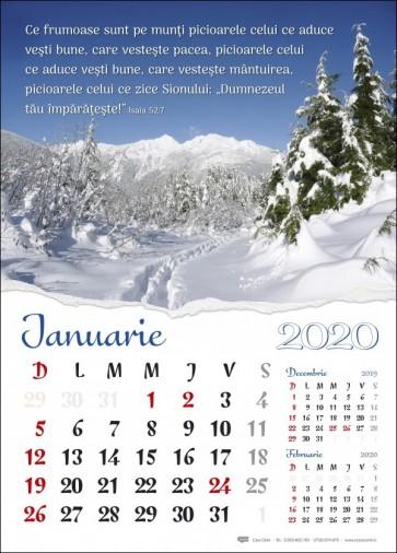 Calendar 2020 CC – format mare