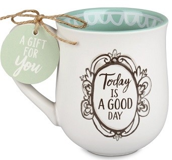 Cana din ceramica - Today Is A Good Day (Flourish Series)