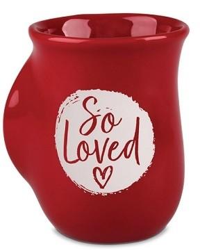 Cana din ceramica - 1 John 4:7 (So Loved) – Handwarmer