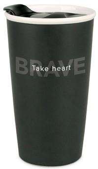 Cana termica din ceramica - Take Heart (Simple Truth)