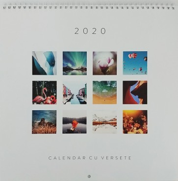 Calendar cu versete, de perete. 2020