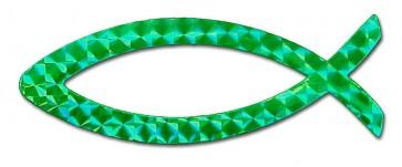 Emblema auto magnetica verde