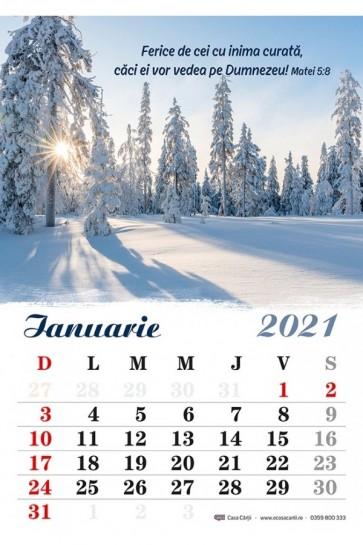 Calendar de perete 2021 - format A4 (CC)