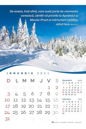 Calendar de perete 2021 - format mare A3 (CC)