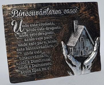 """Placheta """"Binecuvântarea casei"""". Unde este credință..."""