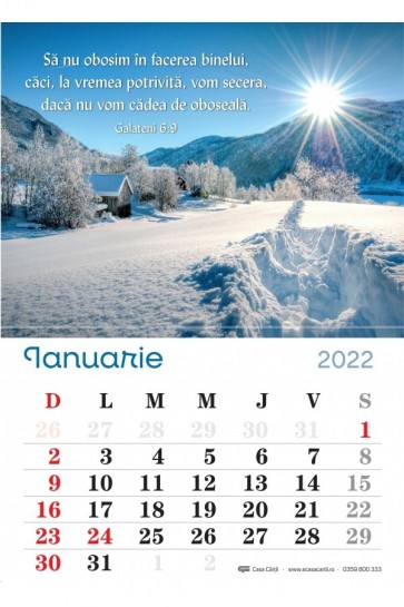 Calendar de perete 2022 - format A4