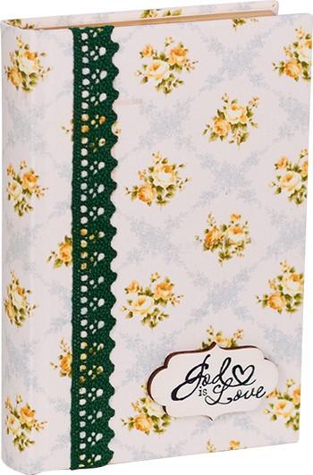 Biblia handmade – model floral galben