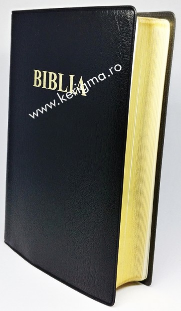 Biblia medie [coperti flexibile, marginii aurii, negru, SBR]