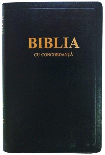 Biblia cu concordanta [foarte mare, 087 ZTI, coperta piele, fermoar, index]