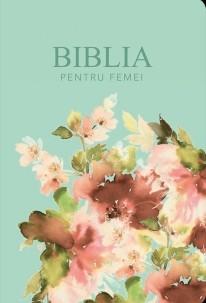 Biblia pentru femei Turcoaz Floral MARE