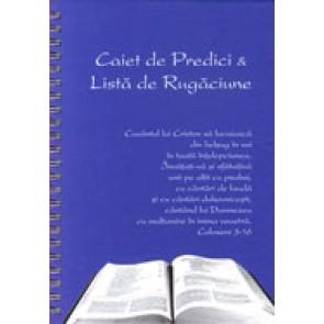 Caiet de predici si Lista de rugaciune