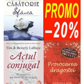 Pachet PROMO 1: Casatorie sfanta + Actul conjugal + Provocarea dragostei