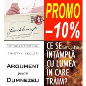 Pachet PROMO 3: Argument pentru Dumnezeu + Scrisori de la un sceptic + Ce se intampla cu lumea in care traim