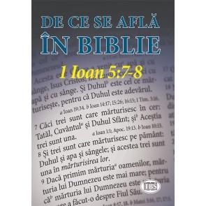 De ce se află în Biblie 1 Ioan 5:7-8