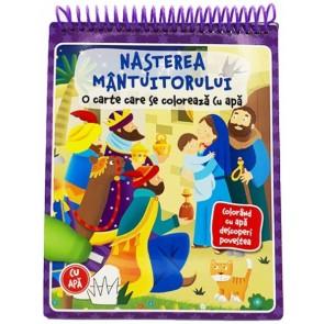 Nasterea Mantuitorului - carte de colorat cu apa