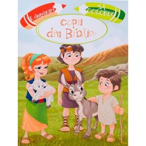 E distractiv sa colorez copii din Biblie