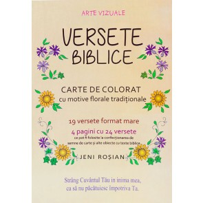 Versete biblice. Carte de colorat cu motive florale traditionale