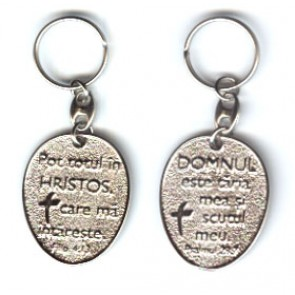 "Breloc metal ""Pot totul in Hristos""_1"