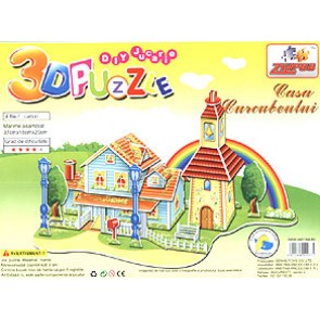 Puzzle. Casa Curcubeului