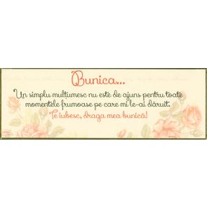 """Placheta """"Bunica..."""""""