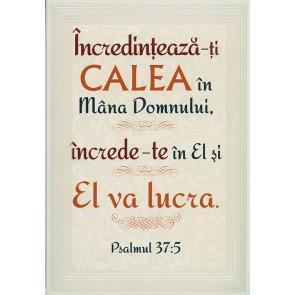 "Placheta ""Incredinteaza-ti calea in mana Domnului... """