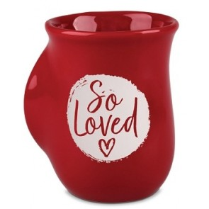 Cana din ceramica - 1 John 4:7 (So Loved) – Handwarmer
