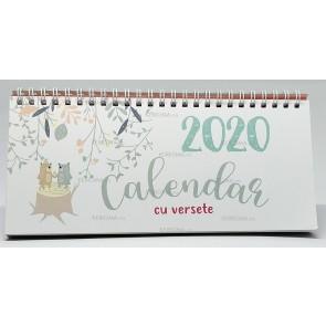 Calendar cu versete, de birou. 2020