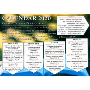 Calendar de citire a Bibliei pe anul 2020