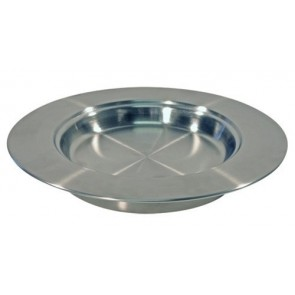 Farfurie argintie din inox pentru împărtășanie
