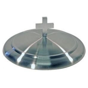 Capac argintiu din inox pentru farfuriile de împărtășanie