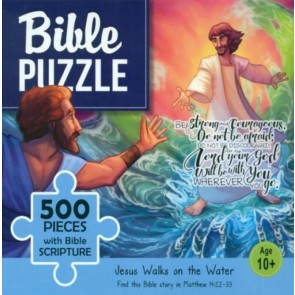 Jesus Walks on The Water. Puzzle biblic 500 piese
