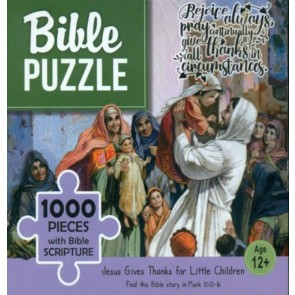 Jesus Giwes Thanks For Little Children. Puzzle biblic 1000 piese