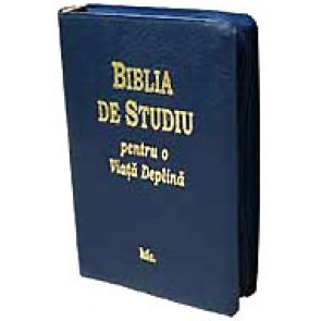 Biblia de studiu pentru o viata deplina [varianta cu fermoar - bleumarin]