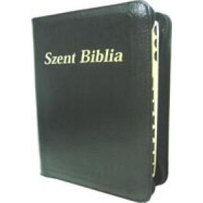 Szent Biblia - legata in piele, cu fermoar, 14,7 x 21,3 cm [editie deLuxe; negru]