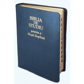 Biblia de studiu pentru o viata deplina [editie deLuxe, piele, negru]