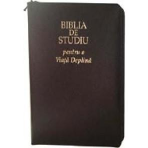 Biblia de studiu pentru o viata deplina [editie deLuxe, piele, bleumarin, fermoar]