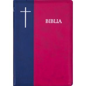 Biblia SBIR (Rosu/Albastru; fermoar)