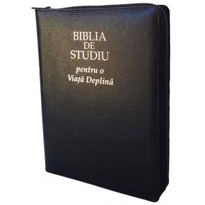 Biblia de studiu pentru o viata deplina [editie deLuxe, coperta piele, neagra, fermoar]