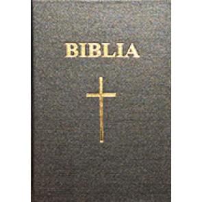 Biblia. Vechiul si Noul Testament [format mediu]. SBR, cop. rigida, negru, cu cruce
