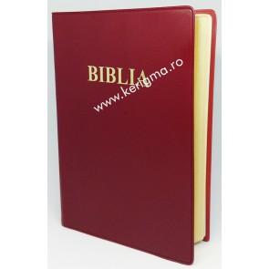 Biblia medie [coperti flexibile, marginii aurii, rosu, SBR]