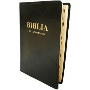 Biblie foarte mare, fara fermoar, coperta din piele cu concordanta si index_CO 087 TI
