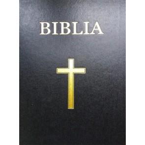 Biblia. Vechiul si Noul Testament [format XXL]. Coperta rigida, negru, cu cruce