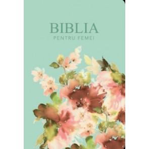 Biblia pentru femei Turcoaz Floral MICĂ