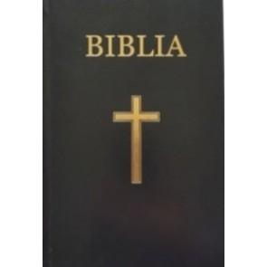 Biblia medie, 063, copertă vinil tare, neagră, cu cruce