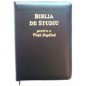 Biblia de studiu pentru o viață deplină [copertă piele neagră, fermoar, index]